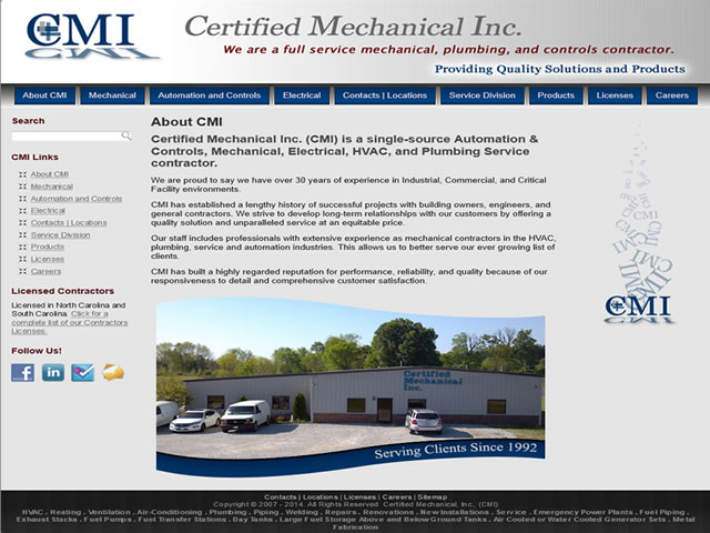 Certified Mechanical, Inc.