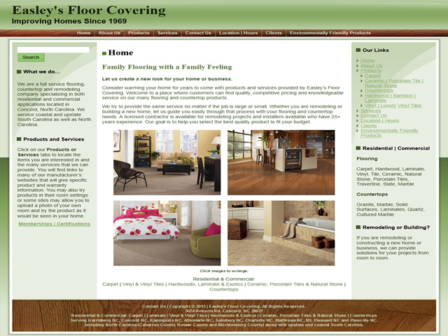 Easley's Floor Covering, Concord, NC