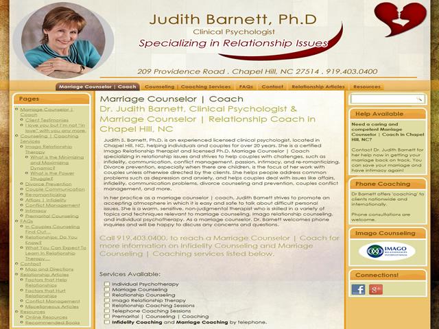 Judith Barnett, PhD, Chapel Hill, NC
