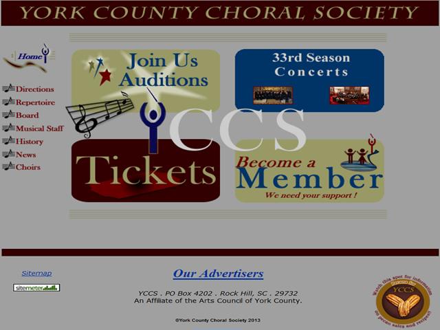 York County Choral Society, (YCCS), Rock Hill, SC