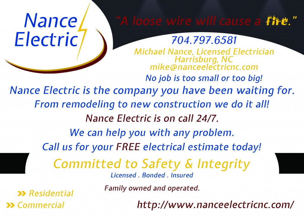Nance Electric Postcard Ad